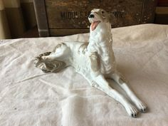 Stately Russian Borzoi Dog Porcelain Figure / 1974 Seymour Mann 1st Edition for Museo by SunshineVintageGoods on Etsy