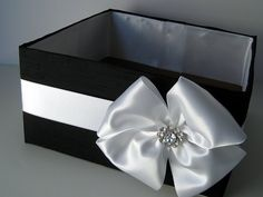 Program and Amenities Box, Bubble Box, Centerpiece, Favor Box, - Custom Made to your colors. $34.00, via Etsy.