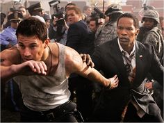 Secret Service wannabe #ChanningTatum protects president #JamieFoxx in the action thriller #WhiteHouseDown on June 28.