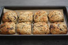 "Dark Chocolate Ginger Scones ... a lovely recipe from this blog, ""Eden Kitchen""."