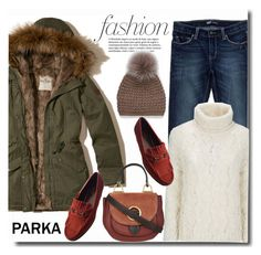 """""""Parka time"""" by gifra ❤ liked on Polyvore featuring Hollister Co., Levi's, MICHAEL Michael Kors, Gucci and Simons"""