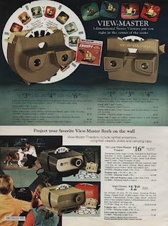 Handheld View Master & Projector in Sears Christmas Wish Book Catalog, I had both! Sweet Memories, My Childhood Memories, Childhood Games, Vintage Advertisements, Vintage Ads, Retro Advertising, Retro Toys, 1960s Toys, Joelle