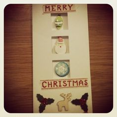 Home-made Christmas card.