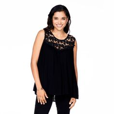 Ladder Lace Back Tunic in Black
