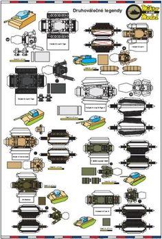 Seven WW2 Legendary Tanks Paper Models In 1 250 Scale