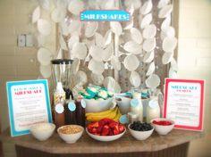Make Your Own Milkshake Bar! Fun idea!