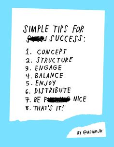 Life & Business: Simple Tips For Success by Adam J. Kurtz idea: do tips for success for high school