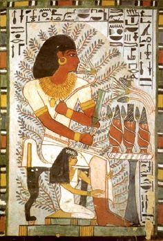Tomb of Sennefer TT96  (Tomb of Vines), Sheikh Abd el-Qurna, Egypt, 18th dynasty, reign of Amenhotep II, c. 1410 BC.
