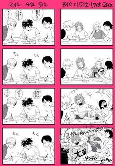 Todoroki & Midoriya & Iida & Bakugou & Kirishima & Kaminari & Sero My Hero Academia Memes, Hero Academia Characters, My Hero Academia Manga, Buko No Hero Academia, Destroyer Of Worlds, Syaoran, Narusasu, Boku No Hero Academy, Manga Games