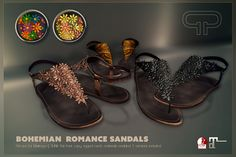 Pure Poison - Bohemian Romance Sandals for Maitreya and SLINK AD | Flickr - Photo Sharing!