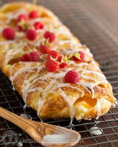 Peach Cream Cheese Braided Danish