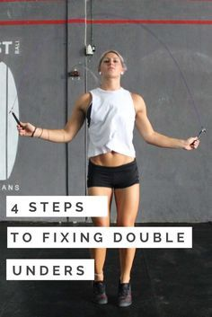 4 STEPS TO FIXING DOUBLE UNDERS #crossfit