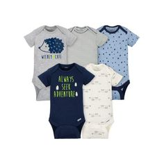Shop for baby boy onesies for your baby. Gerber Childrenswear is the original trusted Baby Boy Onesies brand bodysuit manufacturer. Keep baby comfortable, playing or sleeping, with easy-to-dress clothing and accessories from Gerber! Cute Baby Boy, Cute Baby Clothes, Cute Babies, Baby Boys, Carters Baby, Babies Clothes, Gerber Baby Clothes, Newborn Boys, Babies Stuff