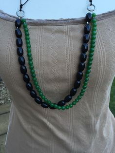 A personal favourite from my Etsy shop https://www.etsy.com/uk/listing/263980627/gemstone-multistrand-necklace-jade-green
