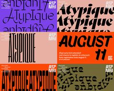 Brand New: New Logo and Identity for ATypI 2017 by Julien Hébert Graphic Design Posters, Graphic Design Typography, Lettering Design, Brochure Design, Branding Design, Hotel Branding, Identity Branding, Corporate Identity, Corporate Design