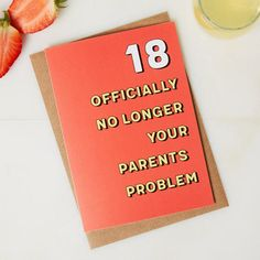 18th Birthday Card 18 Years