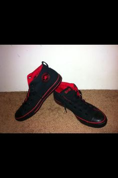 Red and black converse 210eebe04