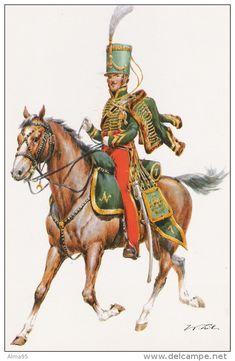 CPM - MILITARIA - ILLUSTRATEUR W. Tritt - Kaiserreich Frankreich 1815 - 7 Husaren-Regiment - Lieutenant - Delcampe.net