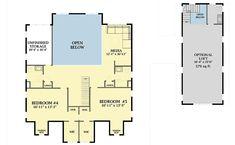 Plan 5 Bedroom Farmhouse Plan With Optional Garage Loft Barn House Plans, Craftsman Style House Plans, Country House Plans, New House Plans, Dream House Plans, House Floor Plans, Building Plans, Building A House, Garage Loft