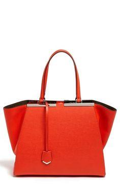 Fendi 'Medium 3Jours' Leather Shopper available at #Nordstrom