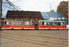 1993 VII 17 Reko-Wagen der BVG-Ost 1993 auf der Linie 64 in Berlin Köpenick, scan vom Foto /