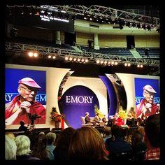 His Holiness the Dalai Lama at Gwinnett Arena during 'the visit 2013' ~ #emory #dailalama #atlanta