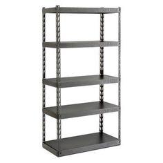 Gladiator 36 in. Wide EZ Connect Rack with Five 18 in. Deep Shelves -  sc 1 st  Pinterest & Gladiator 4-Shelf 60 in. W x 72 in. H x 18 in. D Welded Steel Garage ...