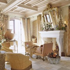 If you are having difficulty making a decision about a home decorating theme, tuscan style is a great home decorating idea. Many homeowners are attracted to the tuscan style because it combines sub… Tuscan Style Homes, Mediterranean Style Homes, English Interior, Tuscan Design, Tuscan Decorating, Decorating Ideas, Decor Ideas, Home Fireplace, California Homes