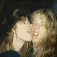 Dave mustaine and James hetfield- AGH STOP ITS JUST TOO HOT