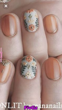 I hope the beautiful nail style can bring you a good mood in autumn. Eplore creative and beautiful nail art & nail designs to inspire your next manicure. Try these fashionable nail ideas and share them with us at Cute Nail Colors, Cute Nail Art, Cute Nails, Pretty Nails, Autumn Nails, Fall Nail Art, Manicure E Pedicure, Elegant Nails, Nagel Gel