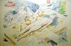 会田誠「まな板の美味ちゃん「食用人造少女・美味ちゃん」」 Makoto Aida, Yamaguchi, Painting Prints, Japanese, Illustration, Anime, Japanese Language, Cartoon Movies, Illustrations