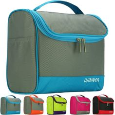 4e9738ce17c8 Hanging Travel Toiletry   Cosmetic Makeup   Shaving Organizer Bag   Kit    Case (Blue