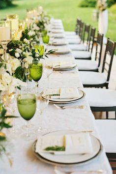 green white wedding place setting table brides of adelaide magazine