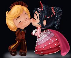 Vanellope and Rancis - Thanks for the Dances! by artistsncoffeeshops.deviantart.com on @DeviantArt