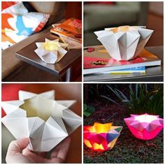 Teelichthalter aus Tonpapier selber machen