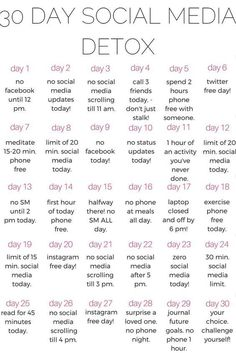 A healthy life: why you should do a 30 day social media DETOX - ka. year Fitness quotes why you should do a 30 day social media DETOX - kalein it 30 Day Challenge List, Detox Challenge, Body Challenge, Challenge Quotes, Monthly Challenge, Day List, Happiness Challenge, Challenge Accepted, Health Challenge