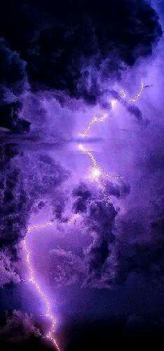 Lightning in a Purple sky