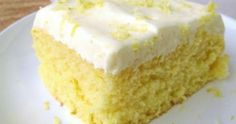 Homemade Lemon Sheet Cake with Cream Cheese Frosting Lemon Sheet Cake Recipe, Lemon Bundt Cake, Sheet Cake Recipes, Easy Buttercream Frosting, Lemon Cream Cheese Frosting, Cake With Cream Cheese, Lemon Cheesecake Bars, Cake Writing, Lemon Sugar Cookies