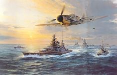 """""""The Channel Dash"""" - The breakout from Brest, 12 February 1942, the battleships Scharnhorst and Gneisenau with air cover-cover from the Luftwaffe sailing up the English channel under the noses of the British, to return home to Germany."""