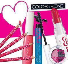 AVON Color Trend Make-up im Valentins-Design. Verlieben Sie sich... ...in Farbe...in bewundernde Blicke...in schönes Design... Entdecken Sie die tollen Farben von Color Trend - Jetzt in limitierter Valentinstags-Edition.