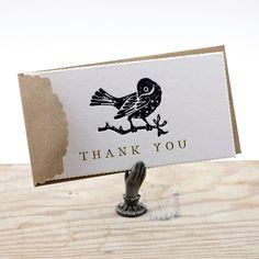 Austin Press: Blackbird Thank You Cards, Set of 6 #MarthaStewartAmericaMade #americanmadeebaysweeps