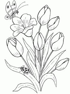 Trendy embroidery flowers pattern coloring pages ideas Embroidery Flowers Pattern, Flower Patterns, Embroidery Stitches, Butterfly Pattern, Machine Embroidery, Ladybug Coloring Page, Colorful Flowers, Felt Flowers, Paint Flowers
