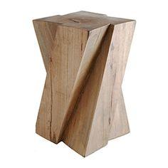 solid slanted stool