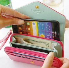 New Multifunction Women Wallets Coin Purse for I-Phone