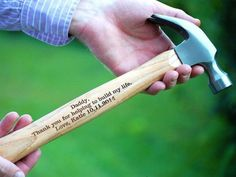 personalized hammer with inscription from daughter to dad