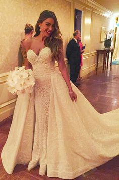 Sofia Vergara's White Dress Weekend: Every Look From Her Wedding Festivities