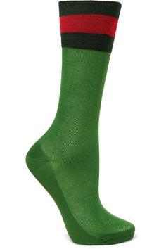 Gucci Green Mesh Socks
