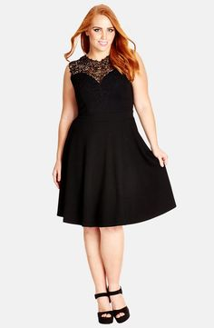 b8a72dfed4 City Chic  Lace Love  Fit  amp  Flare Dress (Plus Size) available
