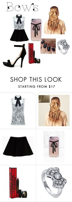 """""""Bows"""" by qu33n0fmys31f ❤ liked on Polyvore featuring Philosophy di Lorenzo Serafini, Hershesons, Max&Co., Casetify, Lipstick Queen, BERRICLE, Wild Diva and bows"""