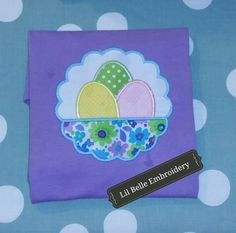 I love this Easter egg design!! Super cute!!! Want one for your little one? Find me on Facebook!!